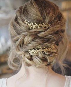 bohemian updo wedding hairstyle