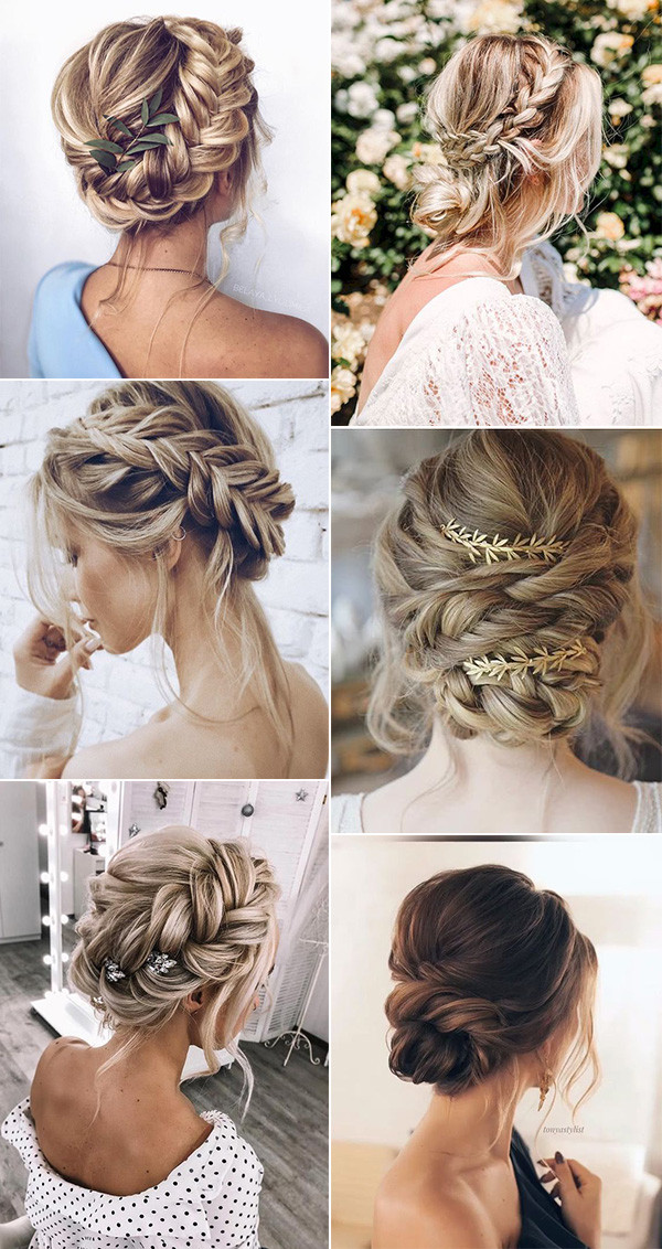 boho chic updo wedding hairstyles