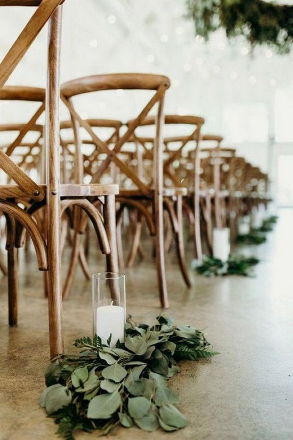 budget friendly indoor wedding aisle ideas