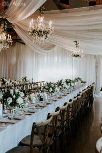 chic elegant barn wedding reception ideas
