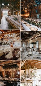 chic rustic wedding reception ideas with string lights