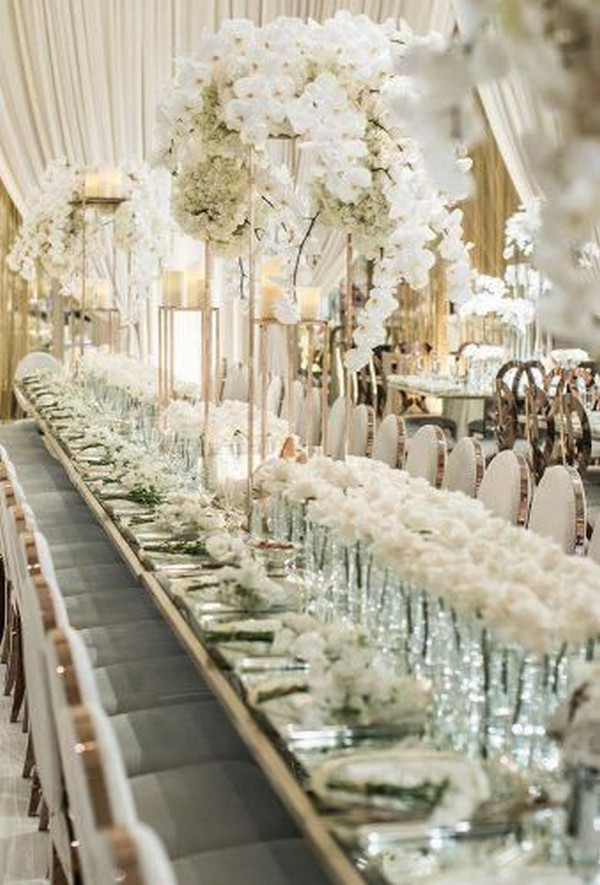 classic ivory wedding decoration ideas