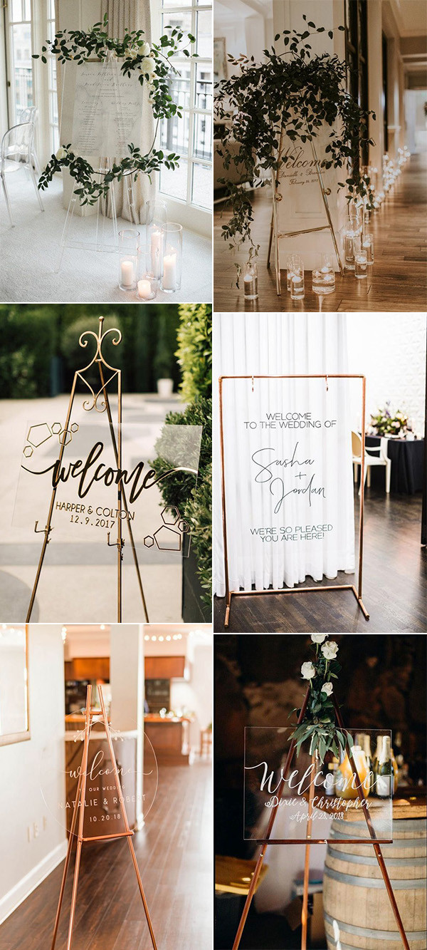 modern chic acrylic wedding signs