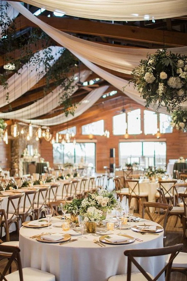 natural barn wedding reception decoration ideas