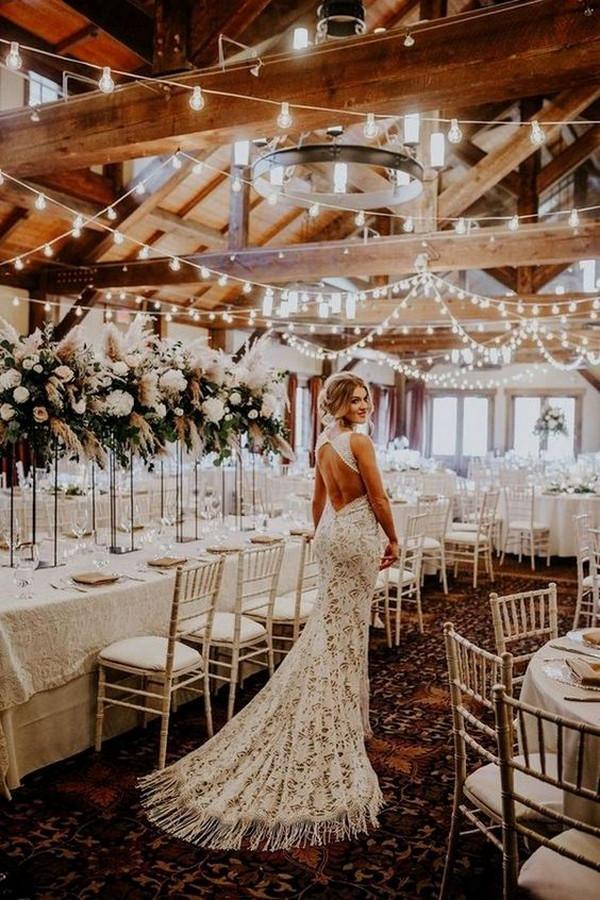 rustic barn wedding reception decorations