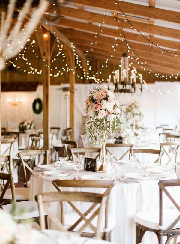 rustic chic wedding barn wedding reception decoration ideas