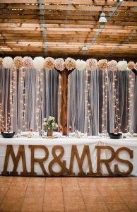 rustic wedding backdrop ideas for head table