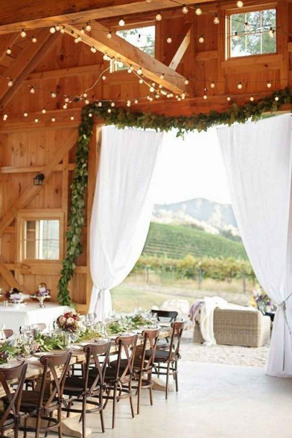 simple chic barn wedding reception ideas