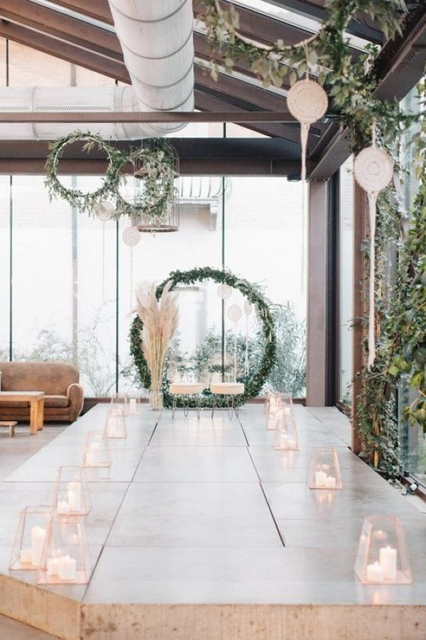 simple chic indoor wedding ceremony ideas