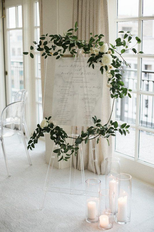 simple chic modern wedding sign ideas