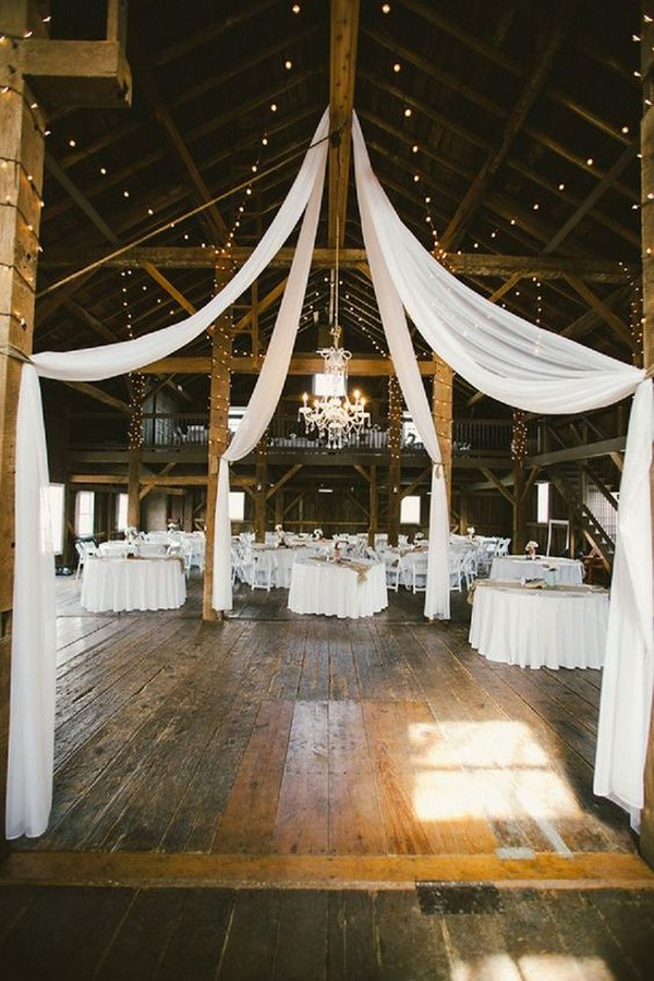 simple chic rustic barn wedding reception ideas