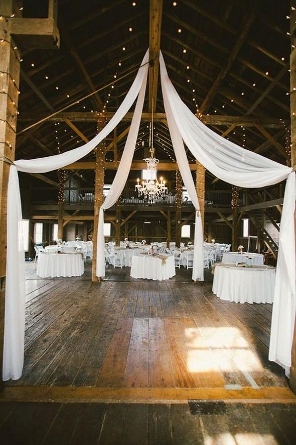 simple chic rustic barn wedding reception ideas