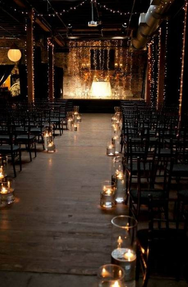 simple wedding aisle ideas with candles