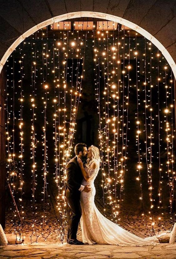 string lights wedding backdrop ideas
