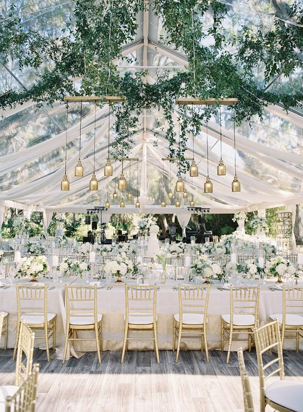 tented elegant wedding reception table ideas
