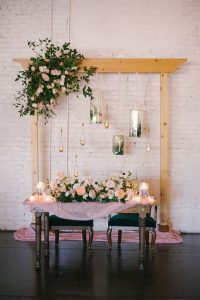 wedding head table backdrop decoration ideas