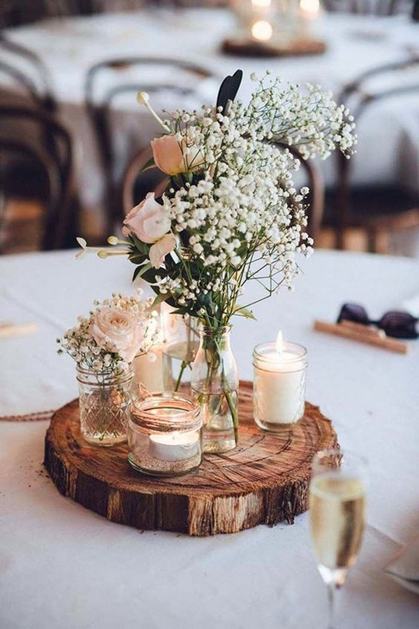 chic rustic vintage diy wedding centerpiece ideas