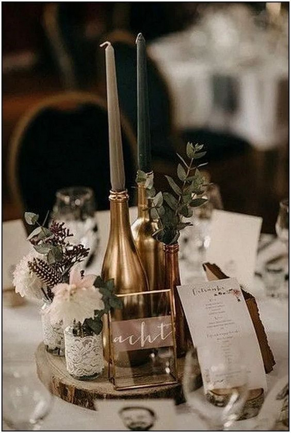 chic vintage wedding centerpiece ideas