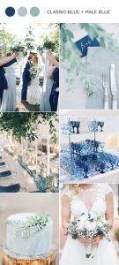 classic blue and pale blue spring summer wedding color ideas