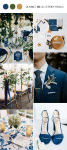 classic blue greenery and gold wedding color ideas 2020
