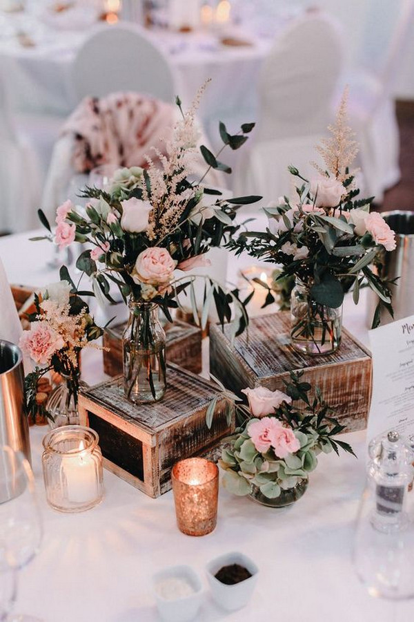 vintage rustic wedding centerpiece ideas