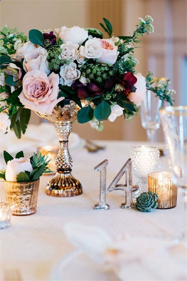 vintage wedding decoration ideas centerpiece