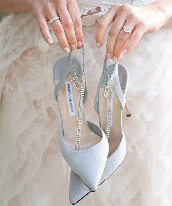 MB dusty blue elegant wedding shoes
