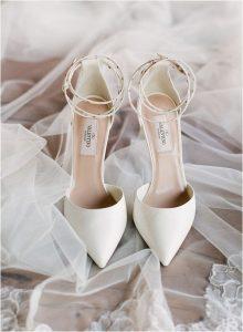 Valentino ivory wedding heels