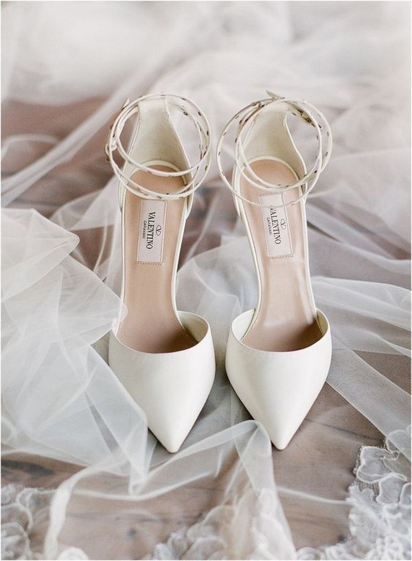 Valentino ivory wedding heels