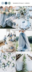 blue and green spring summer wedding colors 2020