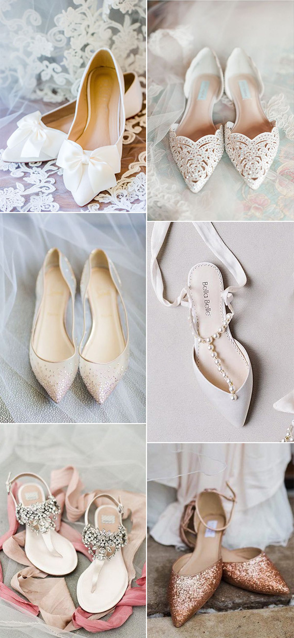 comfortable and elegant wedding flats