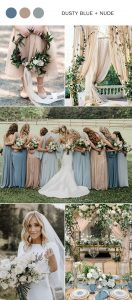 dusty blue and champagne wedding color ideas for 2020
