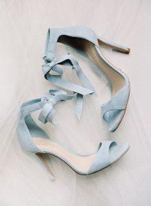 dusty blue wedding heels