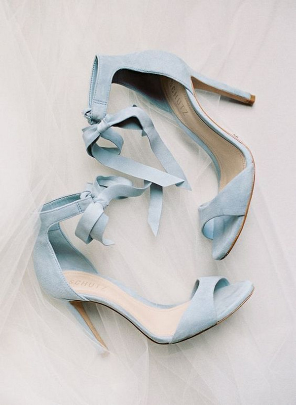 dusty blue wedding heels