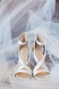 elegant ivory wedding heels