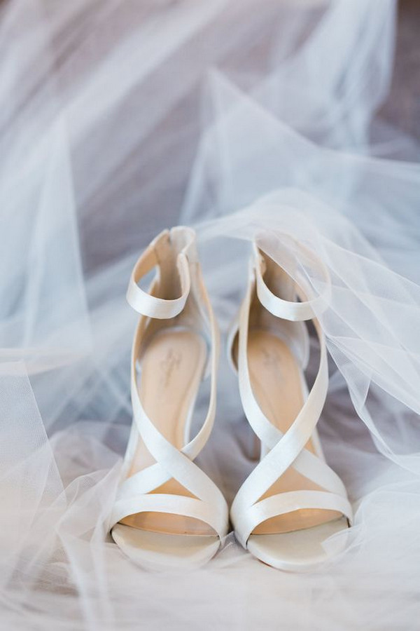 elegant ivory wedding heels
