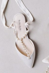elegant wedding flats with pearls