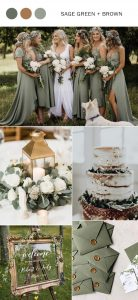 sage green and brown wedding color ideas for spring and summer