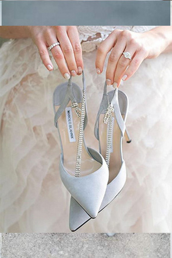 trending blue wedding shoes for 2020 brides