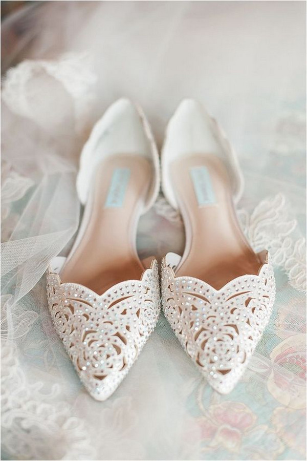 vintage beaded wedding flats