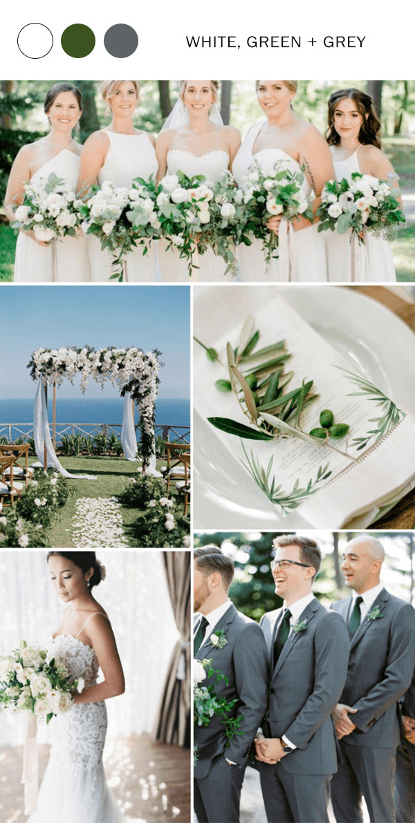 white green and grey spring summer wedding color ideas for 2020