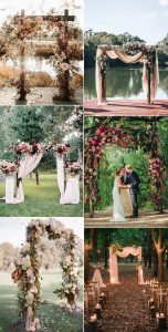 2020 trending fall wedding arches