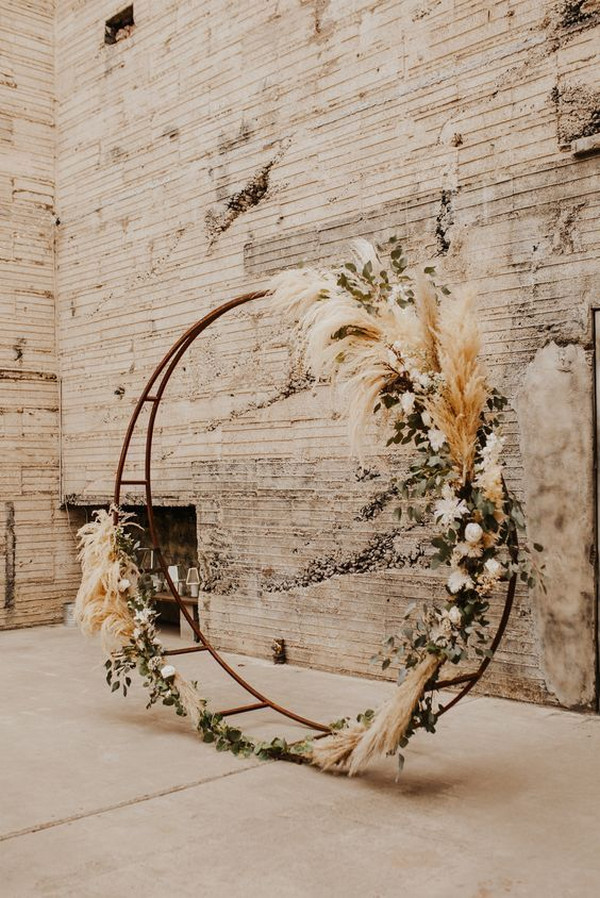 boho chic wedding backdrop ideas