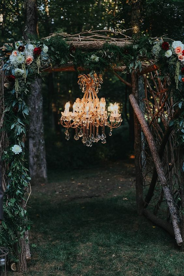 boho outdoor wedding arch ideas
