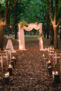 chic rustic outdoor wedding ceremony ideas