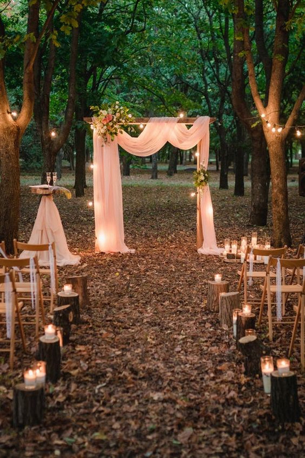 chic rustic outdoor wedding ceremony ideas