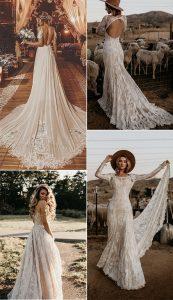 gorgeous boho chic wedding dresses 2