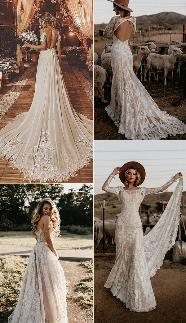 gorgeous boho chic wedding dresses 2