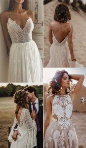 gorgeous boho chic wedding dresses 3