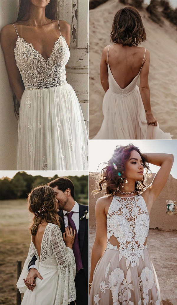gorgeous boho chic wedding dresses 3